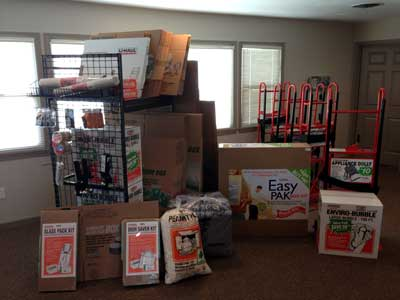 We carry all the packing supplies you'll need for your move